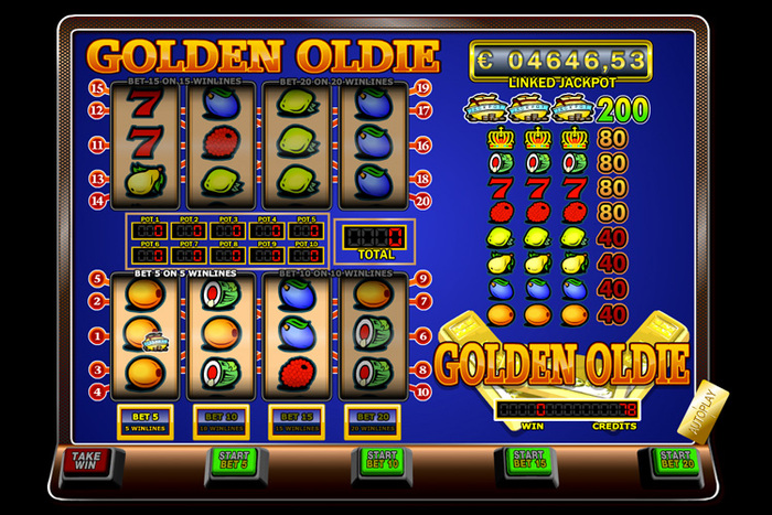 Golden Oldie fruitautomaat