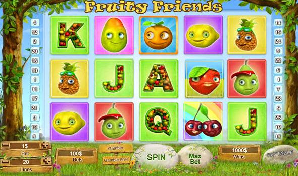 speel de Fruity Friends bij Karamba