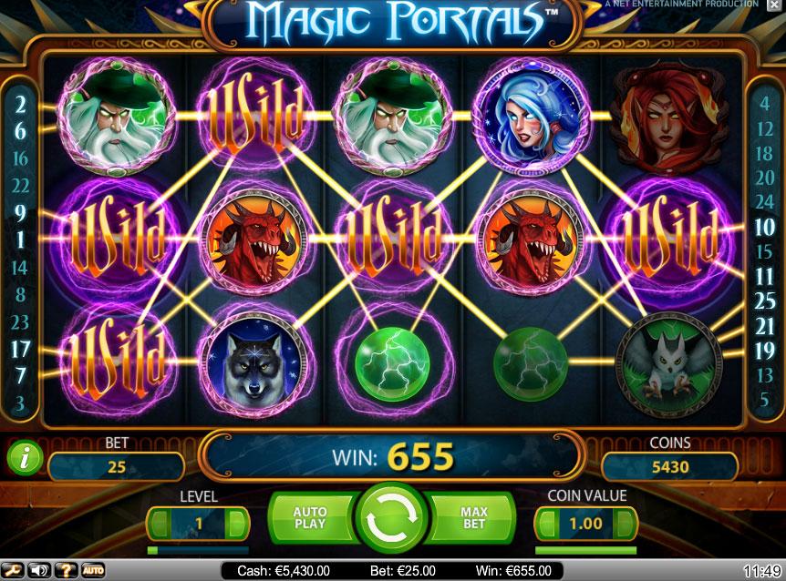 Magic portals fruitmachine
