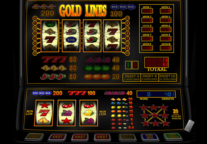 Gold Lines fruitmachine